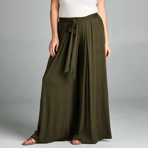 Pants - ️5Palazzo Pants w/ Tie Front 3 Colors!